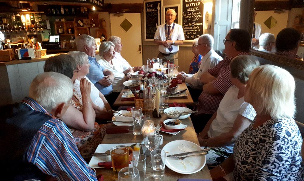 Melksham Lions Presidential Handover Meal